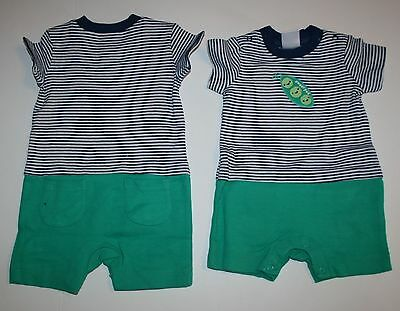 New Gymboree Striped Pea Pod 1 Piece Romper Outfit NWT 0-3m 3-6m 6-12m 12-18m