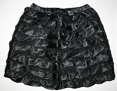 New Hanna Andersson Ruffle ruffle Black Satin Tulle Skirt Size 90 or 2t 3t NWT