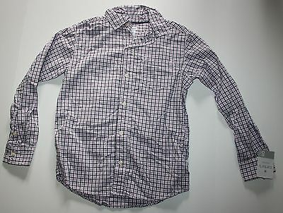 New Carter's Purple White Check Flannel Plaid Button Down Top Size 8 Year NWT