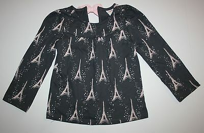 New Gymboree Starry Night Line Top Tee Shirt Size 2T NWT Gray Eiffel Tower
