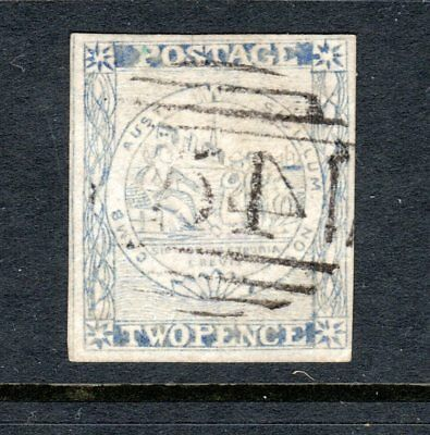 NSW Sg 30c; 2d Sydney View Double Lines on Bale,4 Margins Plate III
