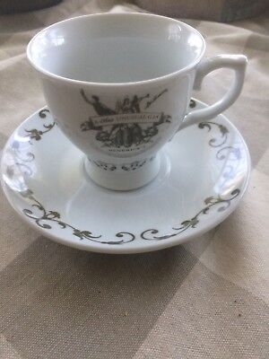 HTF Hendricks Gin Promotional Tea Cup & Saucer Set A Most Unusual Gin MINT
