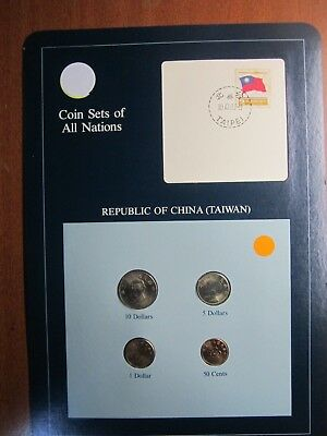 Coin Sets of All Nations Republic of China (Taiwan) 50 cents 1 5 10 Dollars 1982