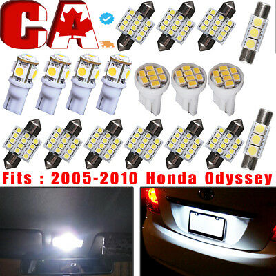 18 PCS Xenon White LED SMD Interior Package  Deal Kit Light bulbs for Vehicles