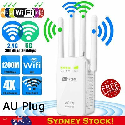 1200Mbps 2.4/5G Dual Band Wireless Router 4 Antenna Range Extender WiFi Repeater