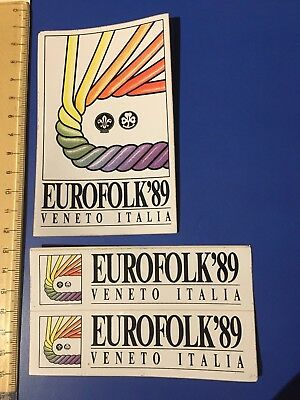 Official stickers Eurofolk 1989 Wosm Wagggs Italy
