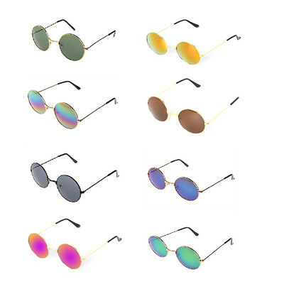 Vintage Retro Men Women Round Mirrored Sunglasses Eyewear Outdoor Sports Glasses