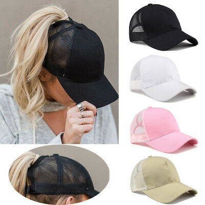2018 Ponytail Baseball Cap Women Messy Bun Baseball Hat Snapback Sport Sun Caps