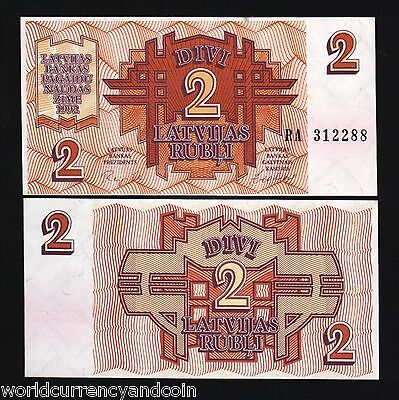Latvia 2 Rublei P36 1992 Euro Arms Russia Unc Bundle World Currency Note 20 Bill