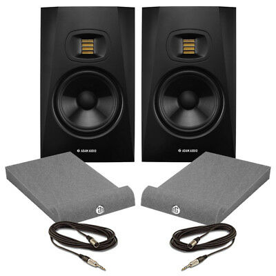 Adam T7V (Pair) 7 Inch Active Studio Monitors 70W With Isolation Pads & Cables
