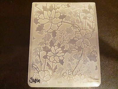 Sizzix Large Embossing Folder SWEET POSIES FLOWER FRAME 4.5x5.75in