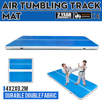 4x2x0.2m Air Track Floor Tumbling Inflatable Gym Yoga Mat Pro 1.2Mm PVC Fitness