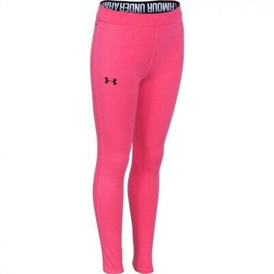 Under Armour Girls Favourite Soft Ultra Lightweight Pink Elastic Leggings 127523