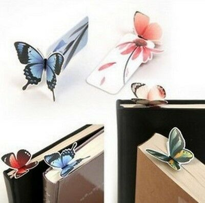 3x Butterfly Bookmarks- Stationery Crafts Page Holder Butterflies Book Marker