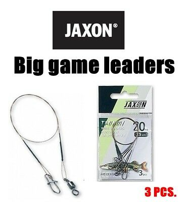 Jaxon Tanami Big game surfstrand leaders 3pcs. Pike wire traces,lure,cast,jiggin