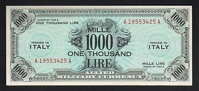 ITALY P-M23a. Allied Military Currency. 1943-A 1000 Lire.. UNC - RARE this Grade