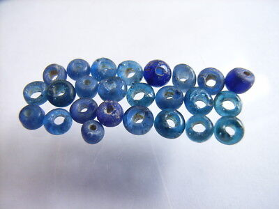 25 Ancient Roman Smaller Glass Beads Romans VERY RARE!  TOP !!