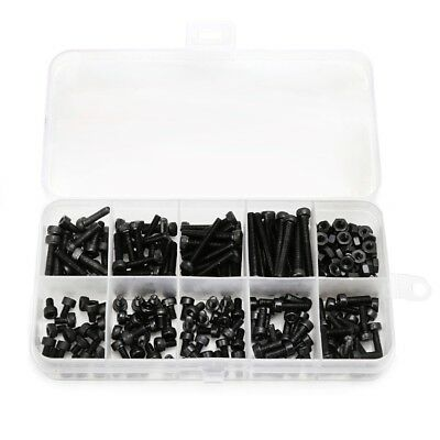 240pc 3/4/5/6/12/25 Metric Hex Socket Head Cap Screw Bolts Nuts Assorted Box Set