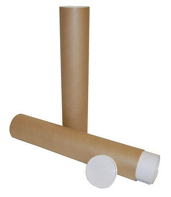 400mm x 76mm A4 A3 Cardboard Postal Mailing Tube for Posters Artwork x 20