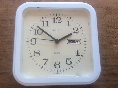 Vintage German Kienzle Germany Quartz Wall Clock + Date + Second Hand Working