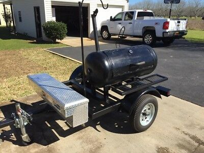 BBQ Grill Trailer with Cooker Newly Built
