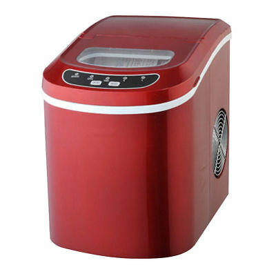15kg Counter Table Top Ice Cube Electric Machine Maker Bar Drinks Cocktails Red