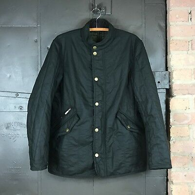 Barbour 'Edderton' Quilted Waxed Cotton Jacket Men's Medium