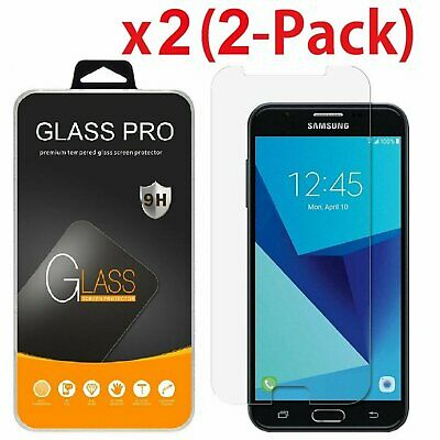 2-Pack Shockproof Tempered Glass Screen Protector for Samsung Galaxy J7 2017