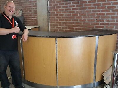 curved reception desk / Bar  **REDUCED FOR QUICK SALE**