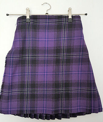 Ex Hire Kids Passion Purple wool Kilt A1 condition many childrens sizes