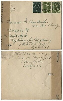 Holland Cover from Holland to Skatas in Sweden, Dutch Censor, 1945.n40
