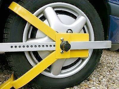 "wheel clamp caravan car van trailer lock 13""-15"" UNIVERSAL security universal"