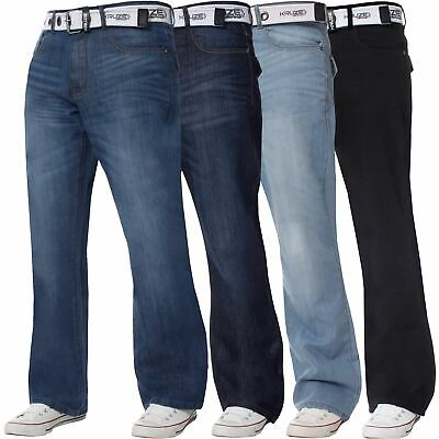 Kruze Denim New Mens Bootcut Jeans Wide Leg Flare Pants King Big All Waist Sizes