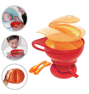 Safe Cute Kids Plates Silicone Toddler Suction Bowls Led Weaning Tableware Set
