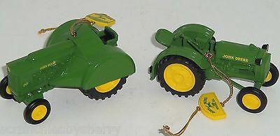 John Deere Ornaments Model BO 60 Tractors Christmas Tree Danbury Mint Lot of 2