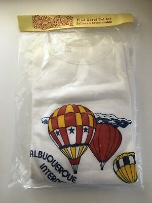 First World Hot Air Balloon Championship Sweatshirt IN PACKAGE 1973 Albuquerque