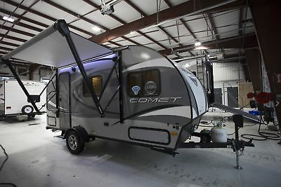 Rv Travel Trailer Camper 2018 Comet Mini 17Rb Rear Bath Camper Trailer Rv