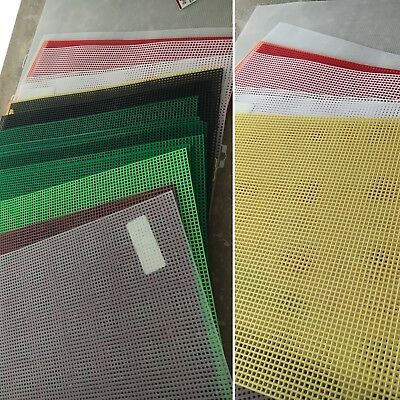 "Darice & Quick Count~21 Blank Multi-Col Plastic Canvas Sheets 7 Mesh 13.5""x10.5"""