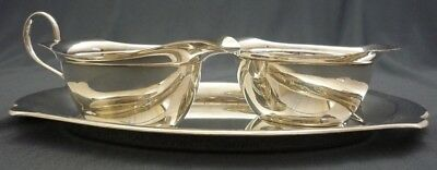 Walker & Hall Sheffield Silver Plated Cream and Sugar on Tray Fully Marked 370g