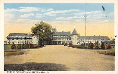 White Plains New York Gedney Farm Hotel Street View Antique Postcard K93234