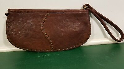 Lucky Brand large wristlet brown leather
