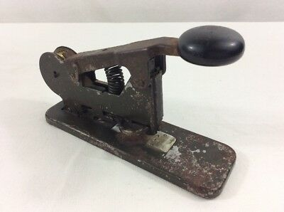 Vintage Wire Stapler BATES Model A Metal Steampunk Industrial Office Works