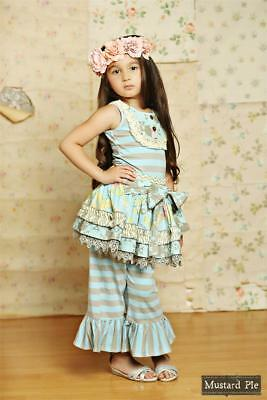 NWT Girls Mustard Pie Clothing - Bella Pant in Spa Blue  FREE SHIPPING