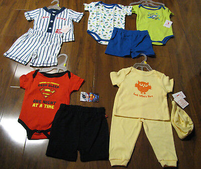 10 Piece Lot of Baby Boys Spring Summer Clothes Size 6/9 Months NWT 6/9M New