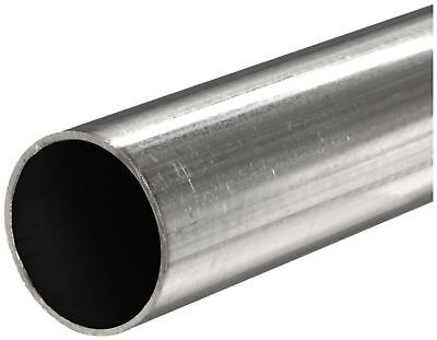 "304 Stainless Steel, Round Tube, OD: 1"", Wall: 0.049"", Length: 12"", Welded"