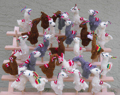 Made In Peru 20 Knitted Alpaca Blended Finger Puppets All Alpacas natural colors