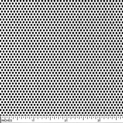 "304 Stainless Steel Perforated Sheet, .030"" (22 ga.) x 12"" x 12"" - 1/16"" Holes"