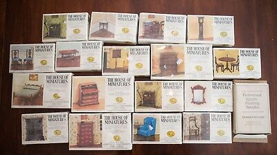 X Acto The House Of Miniatures Lot Of 17 Dollhouse Furniture Kits Sealed NIB