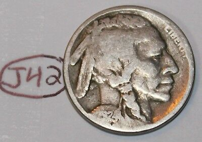 United States 1924 Buffalo Nickel USA Indian 5 Cents Coin Lot #J42