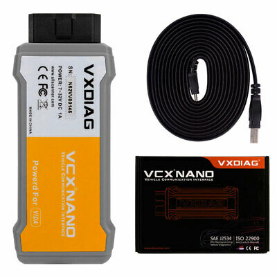 Latest VXDIAG VCX NANO V2014D Car Diagnostic Tools Multi-Language